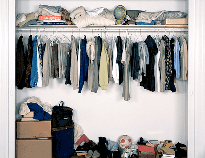 Reach In Closet Redesign Before Image