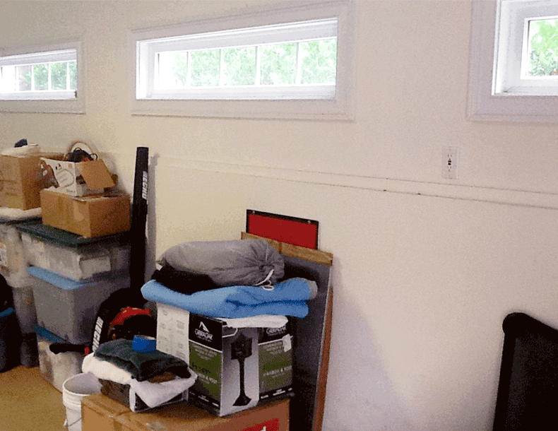 California Closets Garage Storage Redesign Before Image