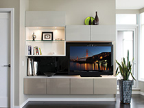 California Closets Spotlight Live Entertainment Center