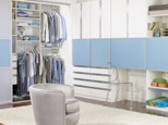 California Closets Youth Closet Classic White Ocean Blue