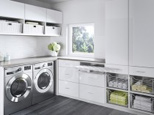 California Closets Laundry Room Tesoro Finish High Gloss White