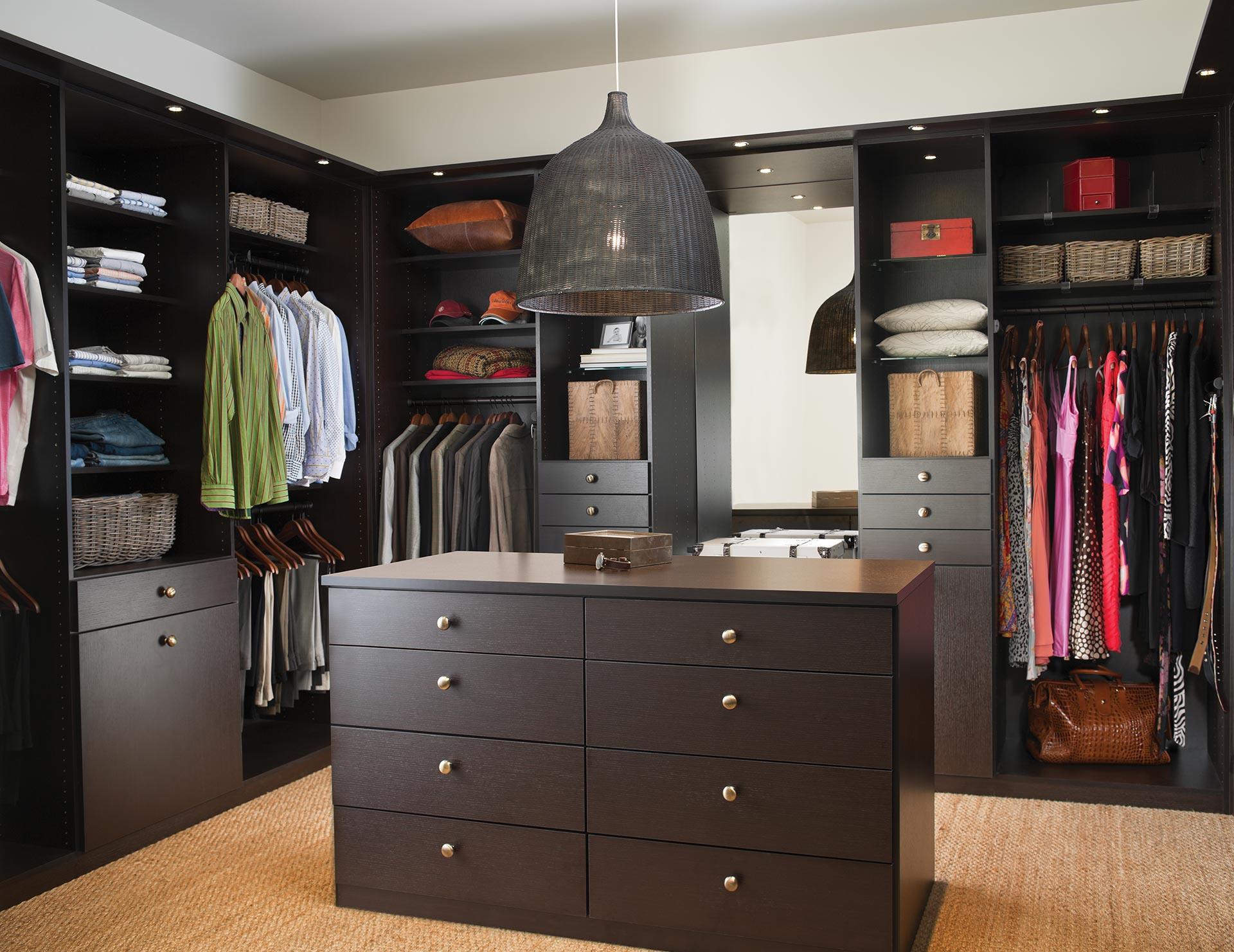 California Closets Calgary - Lee Master Walk in Closet Storage Solution