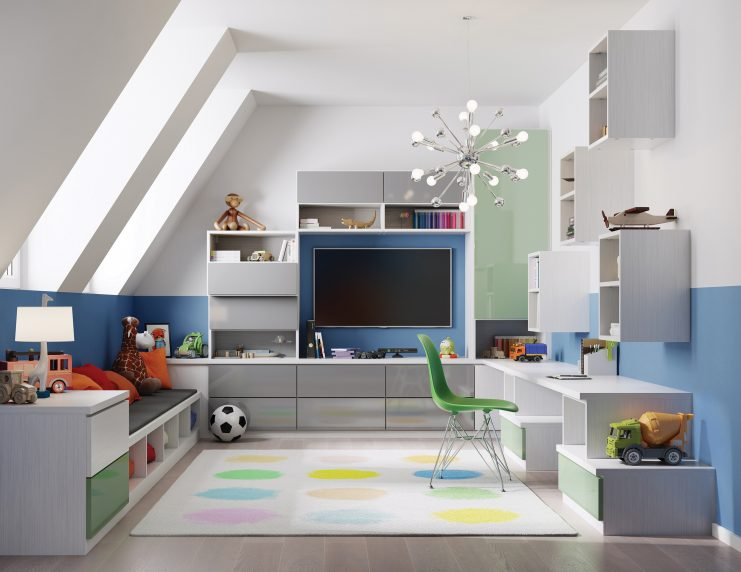 CHEERY ATTIC PLAYROOM