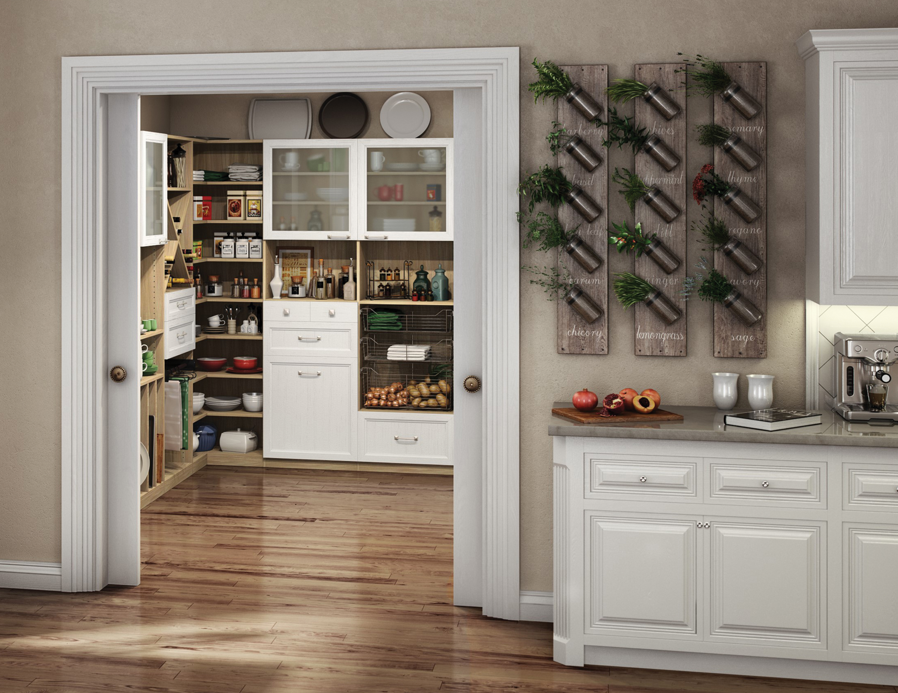 California Closets London - California Closets Montreal - Chef Pantry and Kitchen Storage System