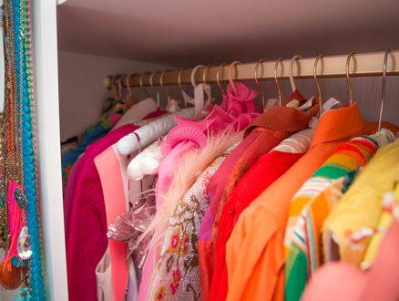 California Closets Tiffany Pratt Client Story Colorful Clothing Hanging