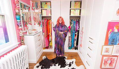 A Colourfully-Coordinated Closet for Designer Tiffany Pratt