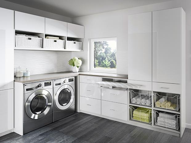 California Closets Toronto - Newport Laundry Room Storage Solution