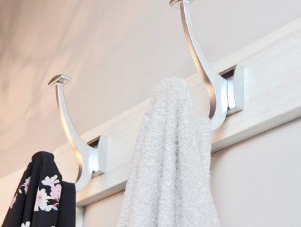 Close Up Image of Kari Skelton Client Closet Metal Coat Hooks