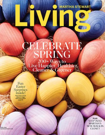 Martha Stewart Living Magazine Celebrate Spring Issue