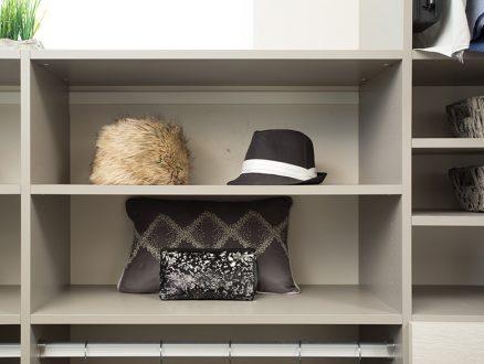 Jodie Parr Client Story Close Up Image of Light Grey Closet Shelving