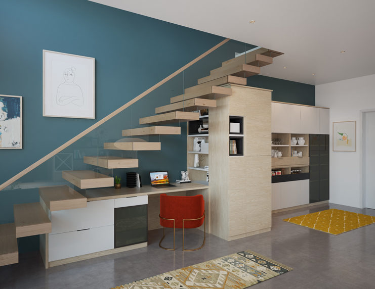 ALDER UNDER-STAIR OFFICE